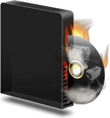 Cd burner burning