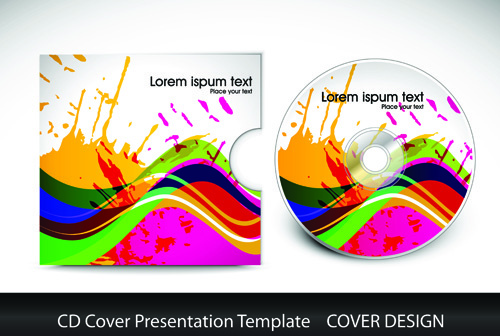 cd cover presentation vector template