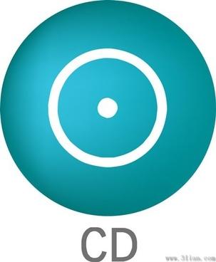 cd icon dark blue vector