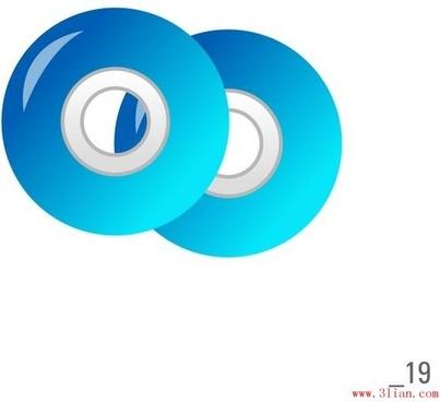 cd vcd disc vector