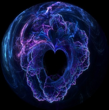 ce abstract heart sphere