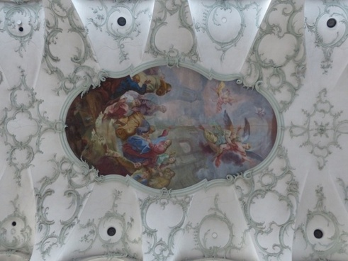 ceiling painting blanket collegiate church of st peter