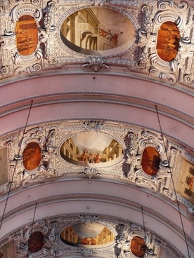 ceiling painting frescoes stucco work