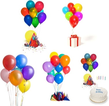 celebrate the birthday balloons highdefinition picture