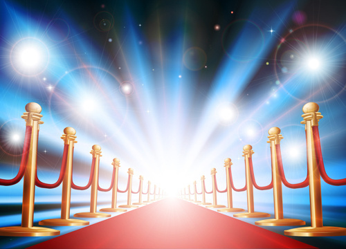 celebration red carpet background vector
