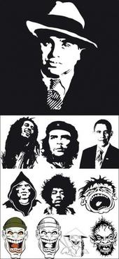 celebrity portraits vector