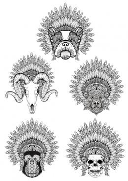 celestial animals tshirt style free cdr vectors art