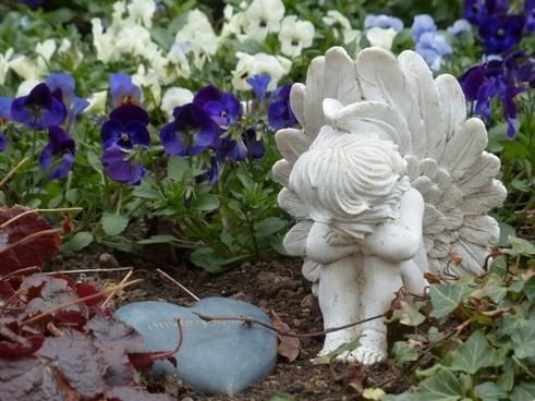 cemetery grave angel