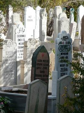 cemetery grave stones turkey