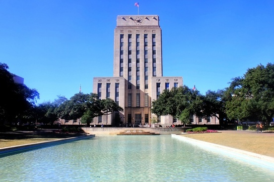 central building in houston texas