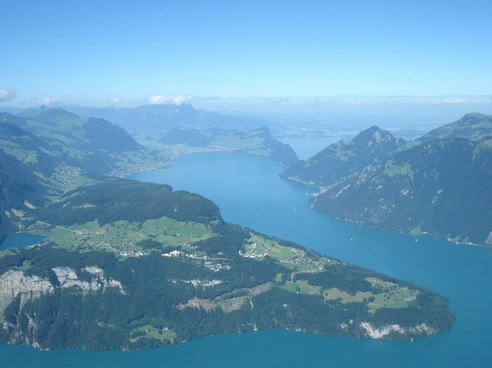 central switzerland lake lucerne region seelisberg