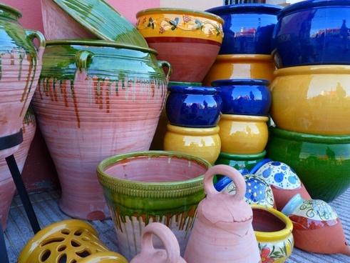 ceramic pots vessels