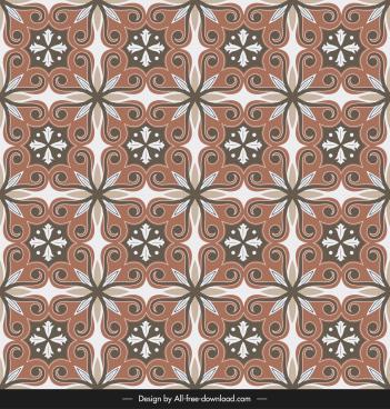 ceramic tile pattern elegant classic decor symmetrical design