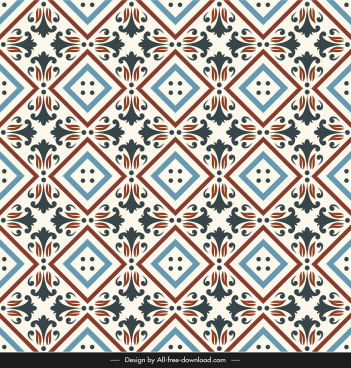 ceramic tile pattern illusion repeating symmetry colorful classic