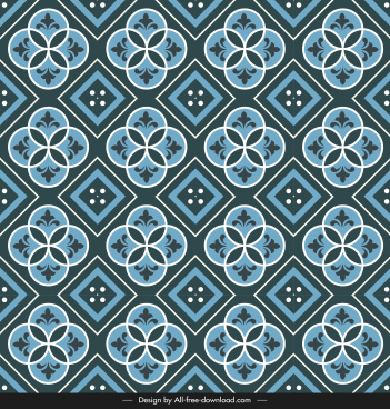 ceramic tile pattern template dark repeating symmetric geometry