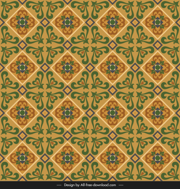 ceramic tile pattern template elegant repeating symmetric vintage