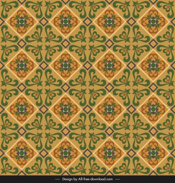 ceramic tile pattern template elegant repeating symmetric vintage