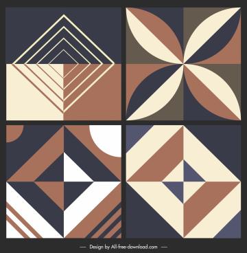 ceramic tile pattern templates elegant dark classic symmetry