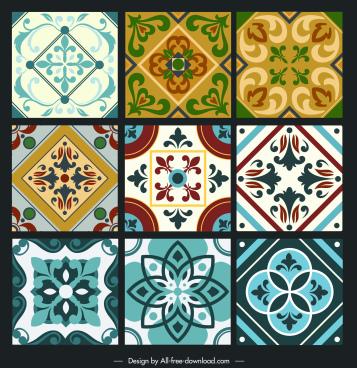 ceramic tile pattern templates elegant retro symmetry design