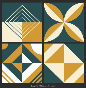 ceramic tile pattern templates flat abstract symmetric decor