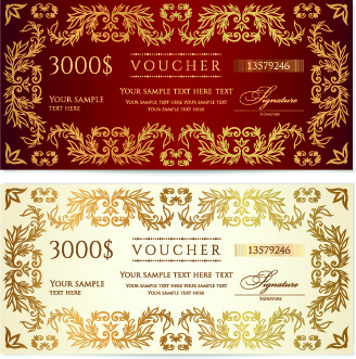 certificate coupon design template vector