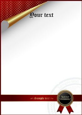 certificate cover template vector