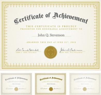 certificate templates classical elegant design