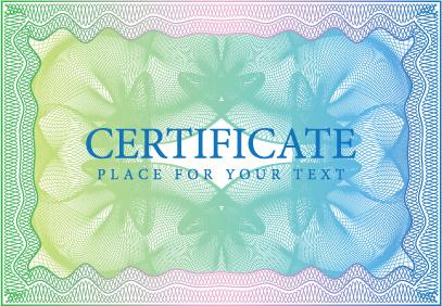 certificate design vector frame