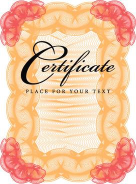 certificate lace frames design vector