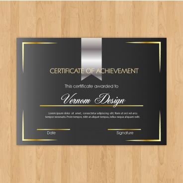 certificate of achievement