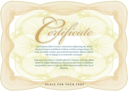 certificate of commendation 05 vector