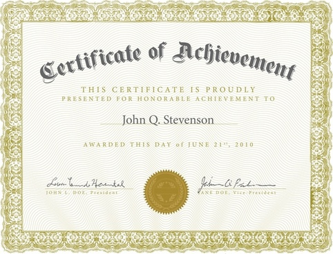 Certificate Free Vector Download 859 Free Vector For Commercial