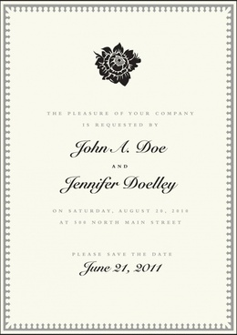 certificate template black white classic petal decor