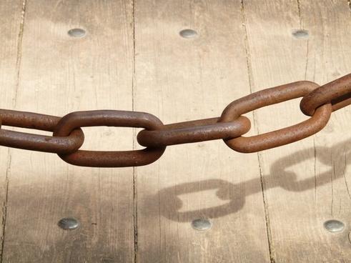chain chain link iron