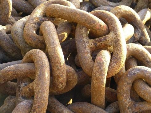 chain iron metal