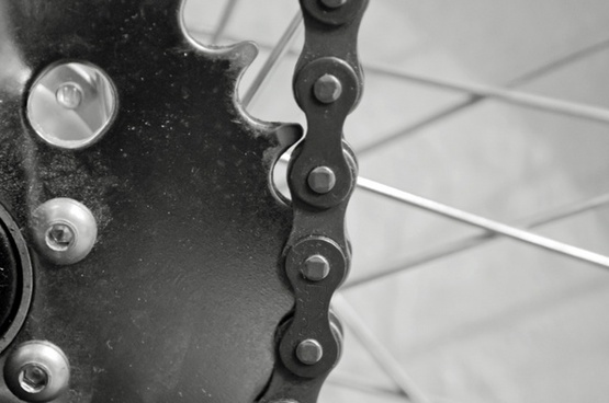 chains and cogwheel