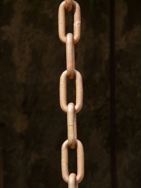 chains links of the chain iron