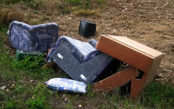 chair couch garbage