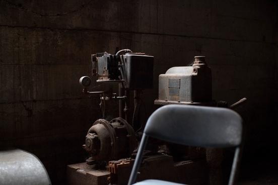 chair equipment machine machinery metal old rust