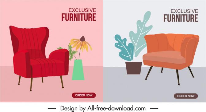 chair furniture advertising banners elegant classic decor