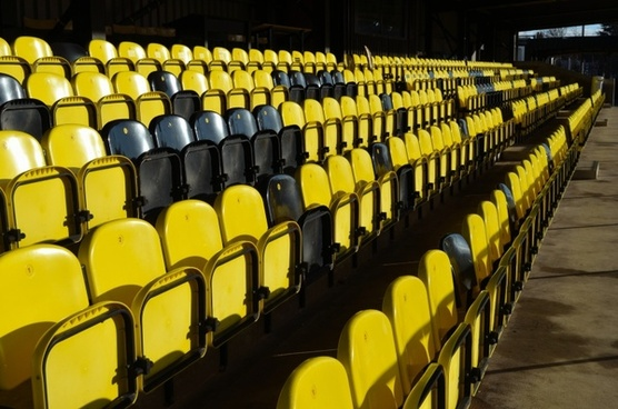 chairs grandstand fans