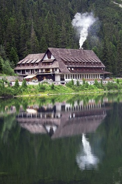 chalet reflection