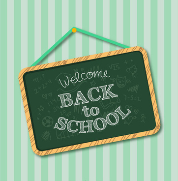 chalkboard school vector background