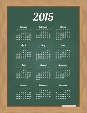 chalkboard style15 calendar vector graphics