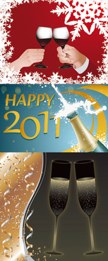 champagne and cup vector