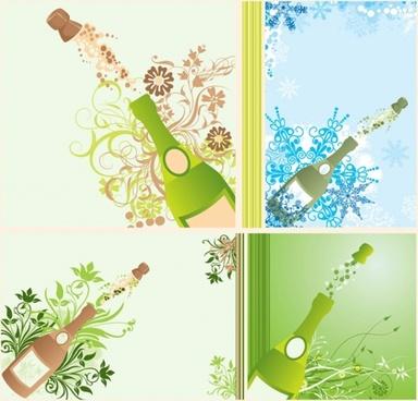 Champagne Bottles Popping