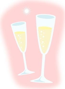 Champagne Glasses clip art