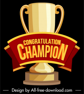 championship trophy icon shiny golden 3d design