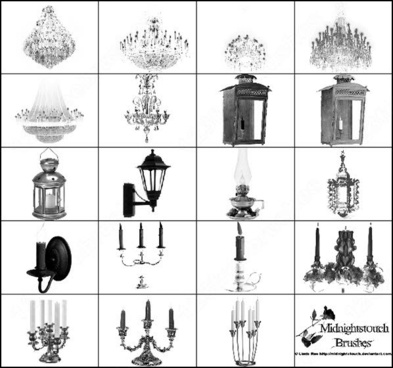 chandeliers, lanterns and candelabras. 19 ps 7 brush