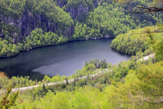 chapel lake in the adirondack mountains new york
